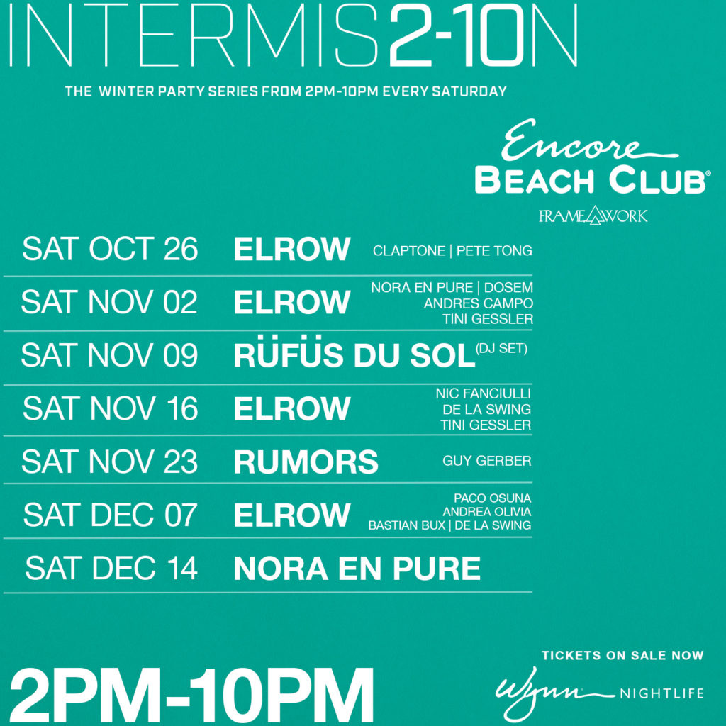 Intermission Encore Beach Club Framework Winter 2019