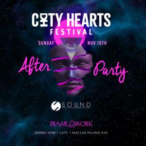 City Hearts Framework Afterparty Sound nightclub november 2019